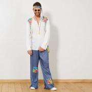 Hippie-verkleedkostuum voor heren