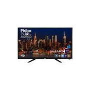 Smart TV LED 32 Philco PH32B51DSGWA HD com Conversor Digital 2 HDMI 2 USB Wi-Fi Android - Preta