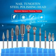 Tungsten Steel Nail Drill Bits Cutter Grinding Head Electric Drill Machine Pedicure 29 Type Nail File Tool Accessories