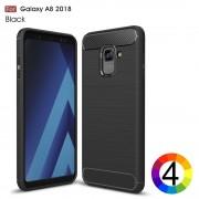Samsung Galaxy A8 (2018) Удароустойчив Carbon Fiber Калъф и Протектор