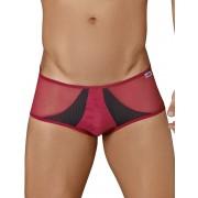 Candyman Sheer & Mesh Bikini Underwear Burgundy 99323