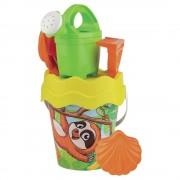 Merkloos Strandspeelgoed luiaard emmer met accessoires voor jongens/meisjes/kinderen