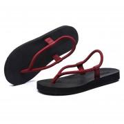 Zapatillas Flip Flops Slipper Con Cordón De La Playa Sandalias Para Hombres -Rojo