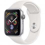 Apple Watch Series 4 GPS 44mm Alumínio Prateado com Bracelete Desportiva Branca