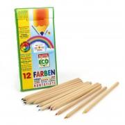 ökoNORM Lápices de colores naturales en madera de tilo - 12 colores