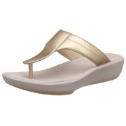 Clarks Women's Wave Pop Champagne Slippers - 6 UK/India (39.5 EU)