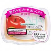 B&C Laboratories «AHA Sensitive» Мыло-пилинг для лица c фруктовыми кислотами, сужающее поры, для сухой и чувствительной кожи, 100 г.