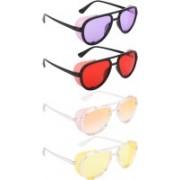 NuVew Aviator, Shield Sunglasses(Violet, Red, Orange, Golden, Yellow)