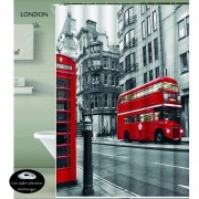 Cortina Teflon Estampada Ojales Antioxido LONDON