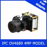 """IP Camera 4MP 2.8-12mm Motorized Zoom & Auto Focal LENS 1/3"""" CMOS OV4689+Hi3516D CCTV IPC module board with LAN cable"""