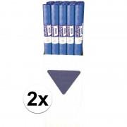 Haza 2x Blauw papieren tafelkleed op rol - Feesttafelkleden