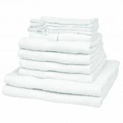vidaXL Kućni kupaonski ručnik 100% pamuk gustoća 500 g/m2, bijeli, 12 kom