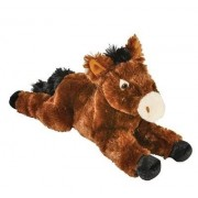 "14"" Super Soft Animal Den Horse Plush Toy By Hands On Learning - Adorable Stuffed Horse - Stuffed Farm Animals - Animal Themed Party Accessory - Carnival Prize - Educational Toy"