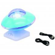 EW Hermosa Starlight Luz Nocturna LED lámpara de proyección de altavoces de música