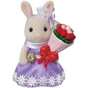 Sylvanian Families Város - nyúl virágos ajándékokkal