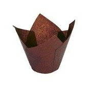 Brown Tulip Muffin Baking Cases