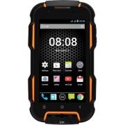 "Telefon Mobil STK Titan 600 Evo, Procesor Quad-Core 1.3GHz, TFT IPS Capacitive touchscreen 4"", 1GB RAM, 8GB Flash, 8MP, Wi-Fi, 3G, Dual Sim, Android (Negru/Portocaliu) + Cartela SIM Orange PrePay, 6 euro credit, 4 GB internet 4G, 2,000 minute nationale si"