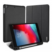 DUX DUCIS Domo Series Business Style Tri-fold Stand Smart Leather Case for Apple iPad mini (2019) 7.9 inch - Black