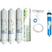 Earth Ro System 1 Year RO service Kit Earth 75 GPD membrane with Inline set