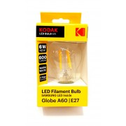 Kodak Bec Led A 60 E 27 600 Lm 6 W Filament Clear/Warm 30419186