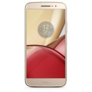 "Telefon Mobil Motorola Moto M, Procesor Octa-core 1.95GHz, IPS LCD Capacitiv touchscreen 5.5"", 32GB Flash, 3GB RAM, 16MP, Wi-Fi, 4G, Dual-Sim, Android (Auriu) + Cartela SIM Orange PrePay, 6 euro credit, 4 GB internet 4G, 2,000 minute nationale si internat"