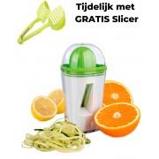 Gusta Spiraalsnijder en Citruspers - Spirelli - 2-in-1 - courgetti - slierten - Groentepasta - Groentenspaghetti - Spiralizer - Vegatarische - Veganischtische - Paleo - Dunschiller