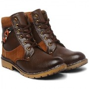 Sapience Men's Casual Lace-Up Shoes Boots For Men (Brown Tan)