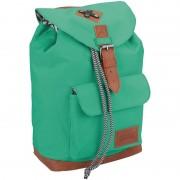 Merkloos Vintage rugzak/rugtas mint groen 29 cm voor kinderen