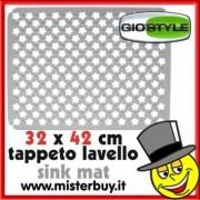 TAPPETO LAVELLO RIFLORI 32 x 42 cm GIOSTYLE BIANCO