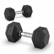 Capital Sports Hexbell 17,5 Dumbbell, чифт гири за една ръка, 17,5 кг (PL-8381-8381)