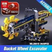 Generic LEPIN 20015 3929Pcs Technic Bucket Wheel Excavator Compatible 42055 Toys Model Building Assemble Kit Blocks Brick DIY Kids Gifts