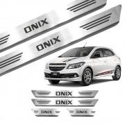 Soleira de Aço Inox Chevrolet Onix