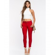 CheapChic After Hours Skinny Pant Red