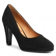 Ниски обувки CAPRICE - 9-22402-25 Black Suede 004