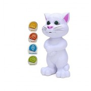 ZUFFON INTELLEGENT Talking Tom CAT Intelligent Talking Tom Cat with Recording, Music, Story & Touch Functionality, Wonderful Voice with Stories & Songs White