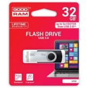 Pen Drive GoodRam 32GB USB 3.0 Preto e cinza