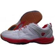 Proase Bg-03 Badminton Shoes(White, Red)