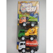ToyUniverse Truck Service Building Construction Truck Pull Along Vehical Truck for Kids Set of 3