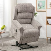 Windsor Riser Recliner Chairs Windsor Electric Riser Recliner Armchair Natural Fabric