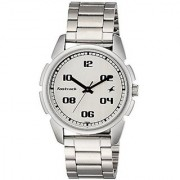 Fastrack Quartz Silver Dial Mens Watch-3124SM01