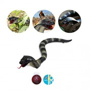 Day Cottage Remote Control Snake Toy for Kids 17.5 Inch Rechargeable Realistic Cobra Snake King Naja Toy for Christmas Halloween Gift