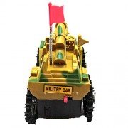 156 Battery Operated Flashing top Light Tumbling Toy Tank