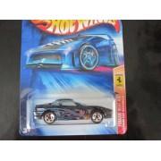 Ferrari 550 Maranello (Black w/ 5 Spoke Wheels) Hot Wheels 2004 #131 Ferrari Heat Card