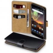 Qubits - wallet hoes - Nokia 6.1 - TAN zwart