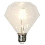 LED-lampa E27 filament, transparent