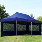 tendapro.it Gazebo Pieghevole ALU 3x6m PVC-beschichtetes Poliestere blu Padiglione Richiudibile Automatico