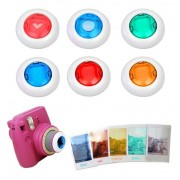 Gosear 6 Stks Kleurrijke Camcorder Close-up Gekleurde Lens Filter voor Fujifilm Instax Mini 9 8 8 7 S KT Instant Film Camera