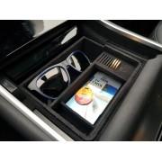 Tesla model 3 console bak met fluweel-afwerking