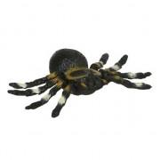 Merkloos Rubberen tarantula zwart 10 cm