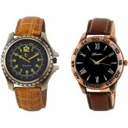 Timebre Men Brown Hunky Casual Analog Watch-180